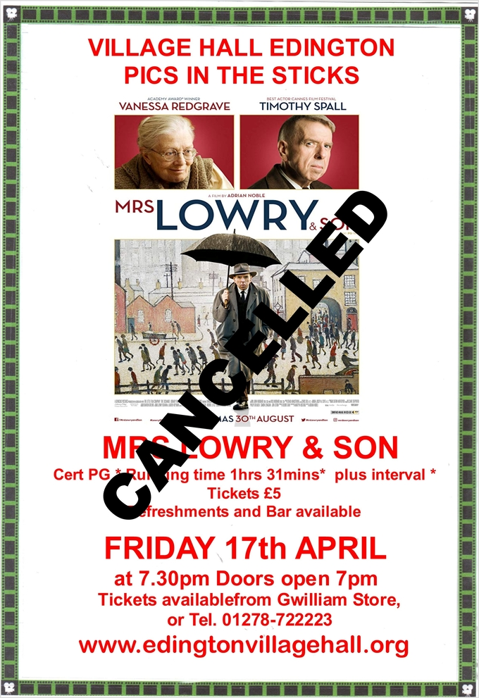 FILM NIGHT -MRS LOWRY & SON